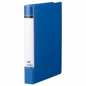 TORH-A4-B 貼り表紙Oリングファイル A4タテ 2穴 背幅40mm 青 1セット20冊 汎用品