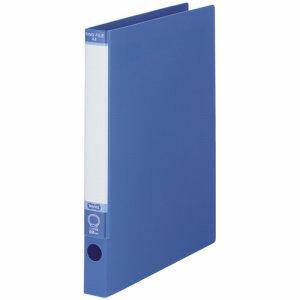KRFS-A4B ワンタッチ開閉Oリングファイル A4タテ 2穴 背幅30mm ブルー 10冊セット 汎用品