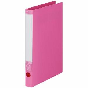 KRFS-A4P ワンタッチ開閉Oリングファイル A4タテ 2穴 背幅30mm ピンク 10冊セット 汎用品