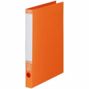 KRFS-A4YR ワンタッチ開閉Oリングファイル A4タテ 2穴 背幅30mm オレンジ 10冊セット 汎用品