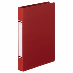 TKRF-A4SR 紙表紙Oリングファイル A4タテ 2穴 背幅36mm 赤 汎用品