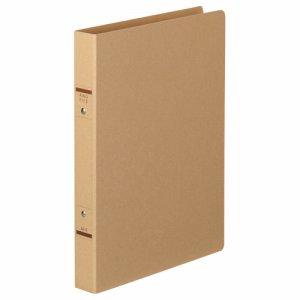 TKRF-A4SK 紙表紙Oリングファイル A4タテ 2穴 背幅36mm クラフト 汎用品