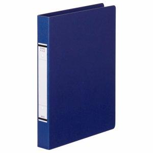 TKRF-A4SB 紙表紙Oリングファイル A4タテ 2穴 背幅36mm 青 10冊セット 汎用品
