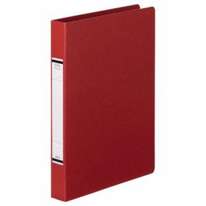 TKRF-A4SR 紙表紙Oリングファイル A4タテ 2穴 背幅36mm 赤 10冊セット 汎用品