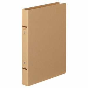 TKRF-A4SK 紙表紙Oリングファイル A4タテ 2穴 背幅36mm クラフト 10冊セット 汎用品