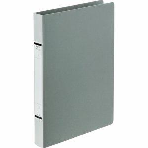TKRF-A4SSG 紙表紙Oリングファイル A4タテ 2穴 背幅36mm ソフトグレー 10冊セット 汎用品