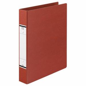 TKRW-A4SR 紙表紙Oリングファイル A4タテ 2穴 背幅52mm 赤 汎用品