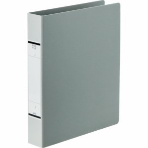 TKRW-A4SSG 紙表紙Oリングファイル A4タテ 2穴 背幅52mm ソフトグレー 10冊セット 汎用品