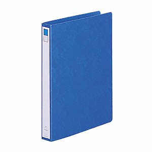 LIHIT F-804UN-5 リングファイル(ツイストリング) B4タテ 2穴 200枚収容 背幅35mm 藍