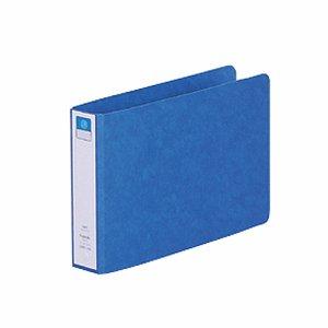 LIHIT F-830UN-5 リングファイル(ツイストリング) B6ヨコ 2穴 200枚収容 背幅35mm 藍