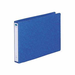 LIHIT F-833UN-5 リングファイル(ツイストリング) A4ヨコ 2穴 200枚収容 背幅35mm 藍