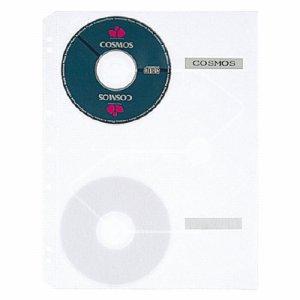 PLUS RE-141CD クリアポケットリフィール CD-ROM用 A4タテ 2・3・4穴 両面6ポケット
