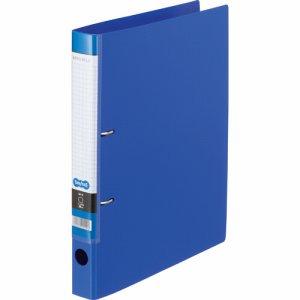 CDFA4S-B Dリングファイル A4タテ 2穴 背幅37mm ブルー 汎用品