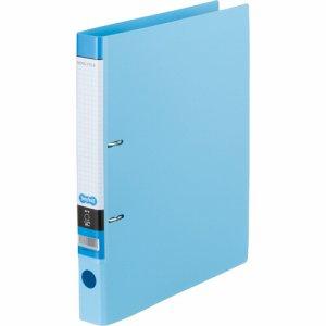 CDFA4S-LB Dリングファイル A4タテ 2穴 背幅37mm ライトブルー 汎用品