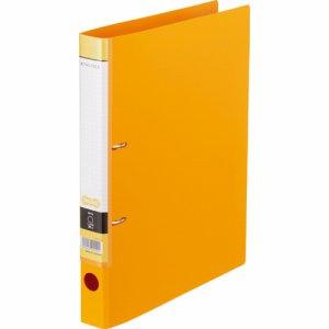 CDFA4S-O Dリングファイル A4タテ 2穴 背幅37mm オレンジ 汎用品