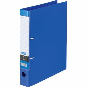 CDFWA4S-B Dリングファイル A4タテ 2穴 背幅45mm ブルー 汎用品