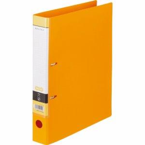 CDFWA4S-O Dリングファイル A4タテ 2穴 背幅45mm オレンジ 汎用品