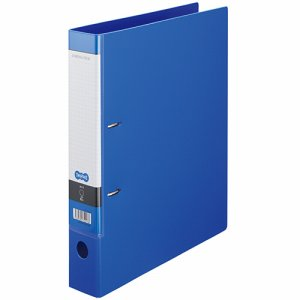 CDFXA4S-B Dリングファイル A4タテ 2穴 背幅53mm ブルー 汎用品