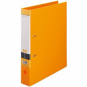 CDFXA4S-O Dリングファイル A4タテ 2穴 背幅53mm オレンジ 10冊セット 汎用品