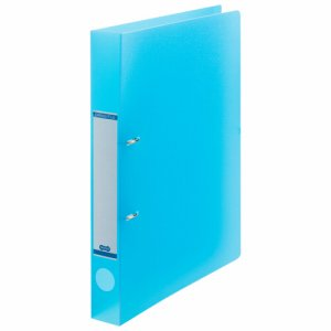 DRFS-A4-B 半透明表紙Dリングファイル A4タテ 2穴 背幅38mm ブルー 汎用品