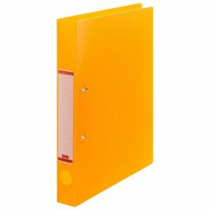DRFS-A4-O 半透明表紙Dリングファイル A4タテ 2穴 背幅38mm オレンジ 10冊セット 汎用品