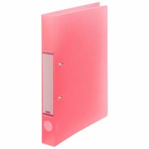 DRFS-A4-P 半透明表紙Dリングファイル A4タテ 2穴 背幅38mm ピンク 10冊セット 汎用品