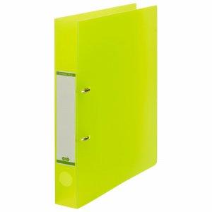 DRFM-A4-G 半透明表紙Dリングファイル A4タテ 2穴 背幅43mm グリーン 汎用品
