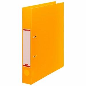 DRFM-A4-O 半透明表紙Dリングファイル A4タテ 2穴 背幅43mm オレンジ 汎用品