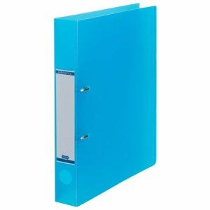 DRFM-A4-B 半透明表紙Dリングファイル A4タテ 2穴 背幅43mm ブルー 10冊セット 汎用品