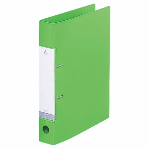 LIHIT G2230-6 リクエスト D型リングファイル A4タテ 2穴 350枚収容 35mmとじ 背幅46mm 黄緑