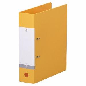 LIHIT G2280-5 リクエスト D型リングファイル A4タテ 2穴 650枚収容 65mmとじ 背幅74mm 黄