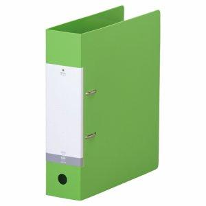 LIHIT G2280-6 リクエスト D型リングファイル A4タテ 2穴 650枚収容 65mmとじ 背幅74mm 黄緑