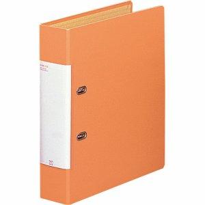 LIHIT G2250-4 リクエスト D型リングファイル A4タテ 2穴 500枚収容 50mmとじ 背幅69mm 橙
