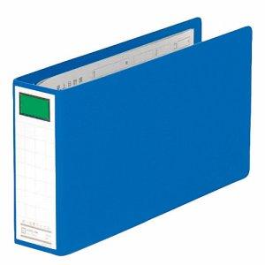KINGJIM 894N 統一伝票用ファイル 片開キ B4長辺1/3 2穴 400枚収容 背幅55mm 青