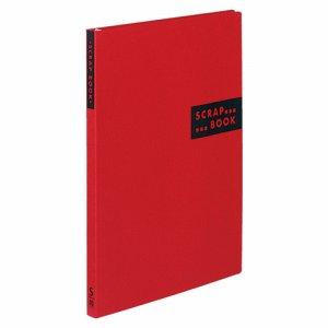 コクヨ ラ-410R スクラップブックS(スパイラルトジ・固定式) A4 中紙40枚 背幅20mm 赤