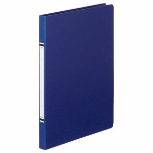 TKZF-A4SB 紙表紙クランプファイル A4タテ 背幅18mm 青 10冊セット 汎用品