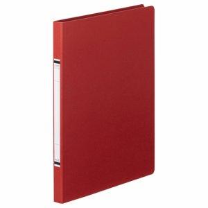 TKZF-A4SR 紙表紙クランプファイル A4タテ 背幅18mm 赤 10冊セット 汎用品