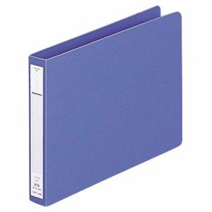 LIHIT F-374-9 パンチレスファイル(HEAVY DUTY) A5ヨコ 160枚収容 背幅25mm 藍