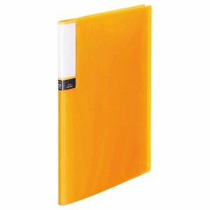 TPCBA4-12O 透明表紙クリアブック A4タテ 12ポケット 背幅8mm オレンジ 汎用品