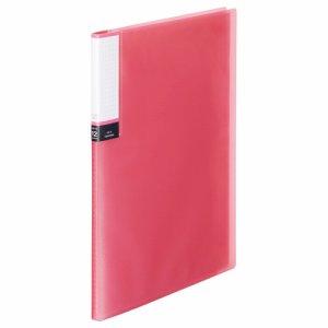 TPCBA4-12P 透明表紙クリアブック A4タテ 12ポケット 背幅8mm ピンク 汎用品