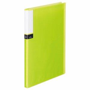 TPCBA4-24G 透明表紙クリアブック A4タテ 24ポケット 背幅15mm グリーン 10冊セット 汎用品