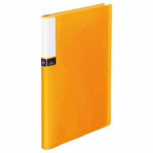 TPCBA4-24O 透明表紙クリアブック A4タテ 24ポケット 背幅15mm オレンジ 10冊セット 汎用品