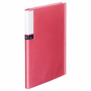 TPCBA4-24P 透明表紙クリアブック A4タテ 24ポケット 背幅15mm ピンク 10冊セット 汎用品
