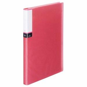 TPCBA4-36P 透明表紙クリアブック A4タテ 36ポケット 背幅20mm ピンク 汎用品