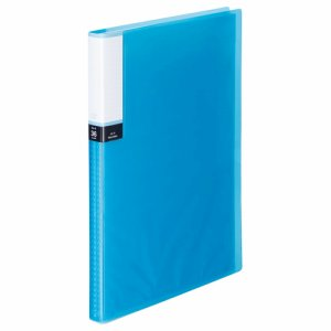 TPCBA4-36B 透明表紙クリアブック A4タテ 36ポケット 背幅20mm ブルー 10冊セット 汎用品