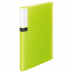 TPCBA4-36G 透明表紙クリアブック A4タテ 36ポケット 背幅20mm グリーン 10冊セット 汎用品
