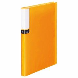 TPCBA4-36O 透明表紙クリアブック A4タテ 36ポケット 背幅20mm オレンジ 10冊セット 汎用品