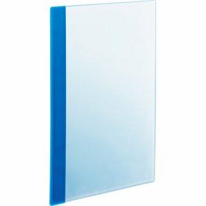 RCBA4-5B 角丸薄型クリアブック A4タテ 5ポケット ブルー 1セット50冊 汎用品