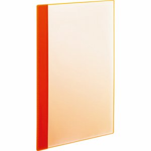 RCBA4-5O 角丸薄型クリアブック A4タテ 5ポケット オレンジ 1セット50冊 汎用品