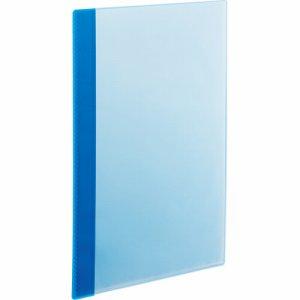 RCBA4-10B 角丸薄型クリアブック A4タテ 10ポケット ブルー 1セット50冊 汎用品